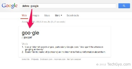 google search define meaning code